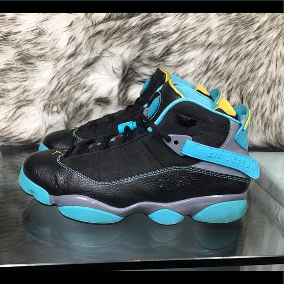 2b18b3a7de8 Jordan Shoes | Nike Air 6 Rings Black Gamma Blue Sz 85 | Poshmark